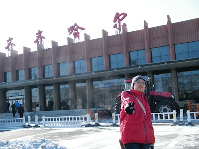 before launch, woz at Qiqihar airport.